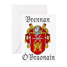 Brennan in Irish/English Greeting Cards (Pk of 10)