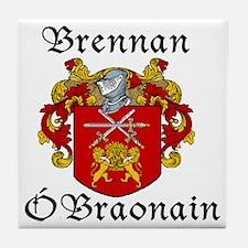 Brennan in Irish/English Tile Coaster