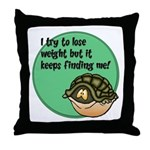 How To Lose Weight Throw Pillow