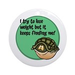 How To Lose Weight Ornament (Round)