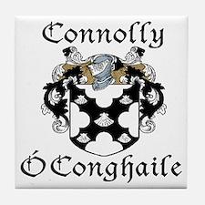 Connolly in Irish/English Tile Coaster