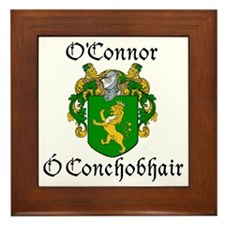 O'Connor in Irish/English Framed Tile