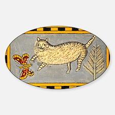 Folk Art Cat Decal