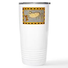 Folk Art Cat Travel Coffee Mug