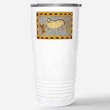 Folk Art Cat Travel Mug