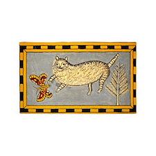 Folk Art Cat 3'x5' Area Rug