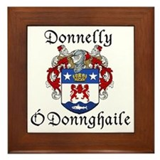 Donnelly In Irish & English Framed Tile