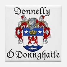 Donnelly In Irish & English Tile Coaster