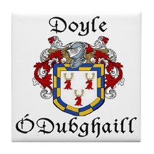 Doyle In Irish & English Tile Coaster