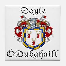 Doyle In Irish & English Tile Coaster