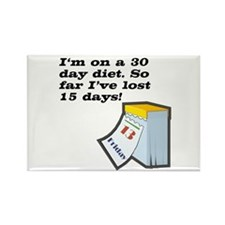 30 Day Diet Rectangle Magnet