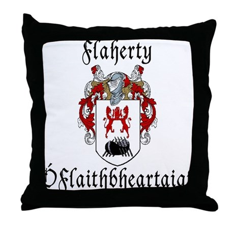 Flaherty In Irish & English Throw Pillow