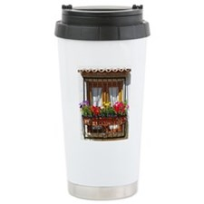 Lisbon balcony Travel Mug