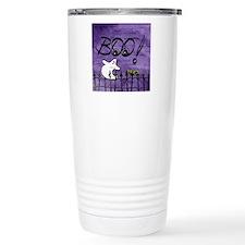 Blue-eyed Halloween Gho Travel Coffee Mug