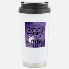 Blue-eyed Halloween Gho Travel Mug