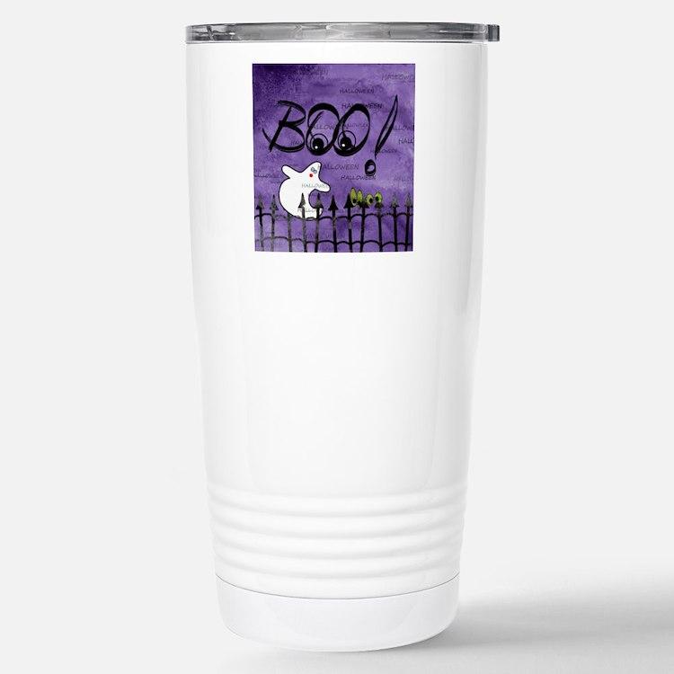 Blue-eyed Halloween Gho Travel Mug