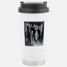 We Want Beer! Protest Stainless Steel Travel Mug