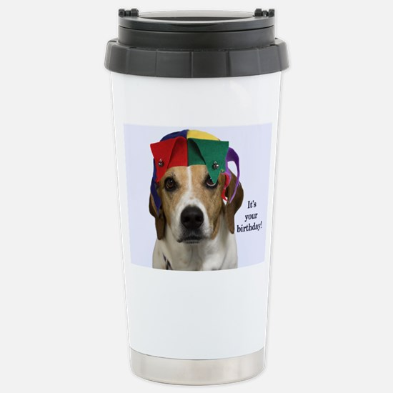 Beagle Birthday Card Stainless Steel Travel Mug