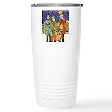 Vintage Christmas Carol Travel Mug