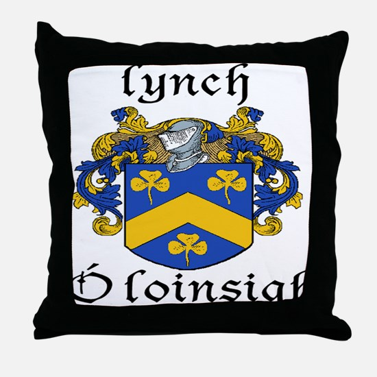 Lynch In Irish & English Throw Pillow