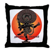 Ganesha Powered Throw Pillow