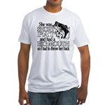 Short, Fat and a Big Mouth Fitted T-Shirt