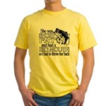 Short, Fat and a Big Mouth Yellow T-Shirt