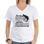 Short, Fat and a Big Mouth Women's V-Neck T-Shirt