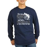 Short, Fat and a Big Mouth Long Sleeve Dark T-Shir