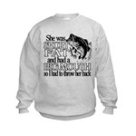 Short, Fat and a Big Mouth Kids Sweatshirt