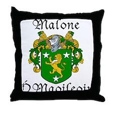 Malone In Irish & English Throw Pillow