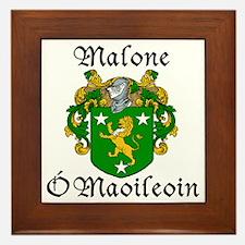 Malone In Irish & English Framed Tile