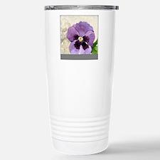 Purple Pansy Scroll Ori Stainless Steel Travel Mug