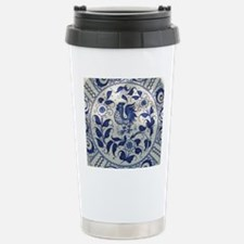 Vintage Blue Rooster Stainless Steel Travel Mug