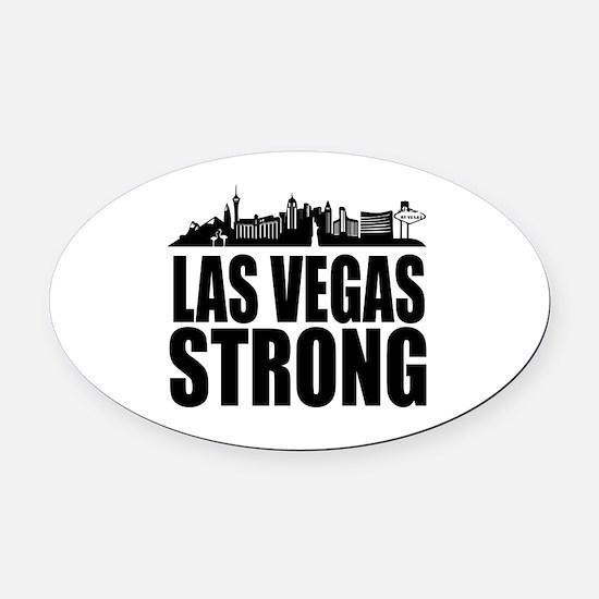 Funny Vegas strip Oval Car Magnet