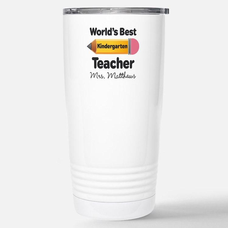 Personalized Kindergraten Teacher Stainless Steel