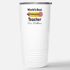 Personalized Kindergraten Teacher Travel Mug