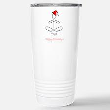 Yoga Glee Santa Stainless Steel Travel Mug