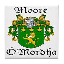 Moore In Irish & English Tile Coaster