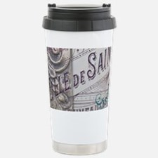 vintage french scripts  Stainless Steel Travel Mug