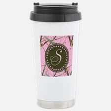 Pink woodland camo Custom Thermos Mug