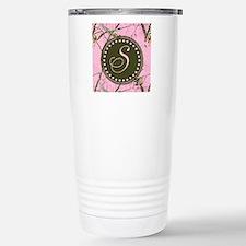 Pink woodland camo Custom Travel Mug