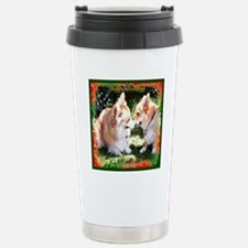 Happy Holidays Corgis Stainless Steel Travel Mug