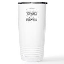First Amendment Travel Mug