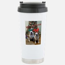 English Bulldog Christm Travel Mug