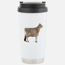 Brown Swiss Dairy Cow Stainless Steel Travel Mug