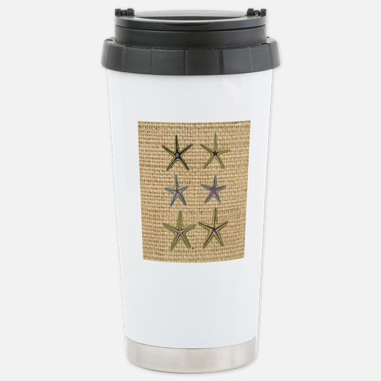 starfish  seashell burl Stainless Steel Travel Mug