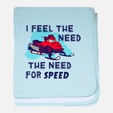 I Feel The Need The Need For Speed baby blanket