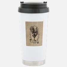 rustic country rooster  Stainless Steel Travel Mug