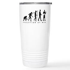 evolution of man waiter Travel Mug